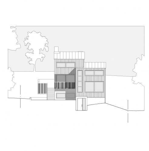 Fasadritning över Koltrasten 26